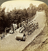 Women working on the Darjeeling Highway, India