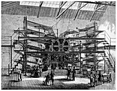 Newspaper printing on a ten feed semi rotary machine, 1860