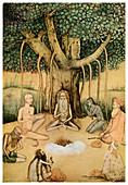 Asceticism: a group of Mughal ascetics, 1956
