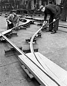 Assembling trackwork in an ICI factory, 1963