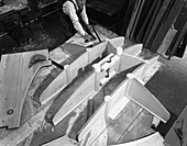 Pattern maker, Wombwell Foundry, South Yorkshire, 1963