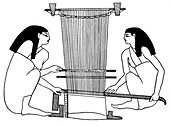 Egyptian weavers, c3000 BC