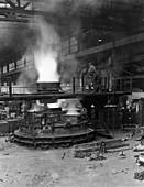 Casting a pole magnet, the Edgar Allen Steel Co, 1963