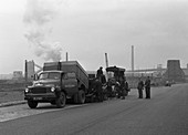 Tipper on the site of a coal prep plant, 1955
