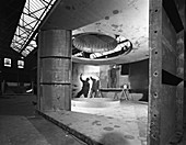 Fabricating a giant extractor fan, 1963