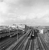 Rail yard at Lynemouth Colliery, Northumberland, 1963