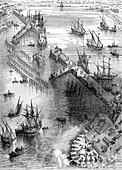 Siege of La Rochelle, France, 1627