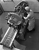 Bacon slicing machine, 1964
