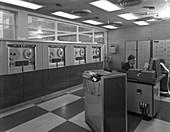Computer room scene, 1964