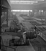 Overview of the bar mill at the Brightside Foundry, 1964