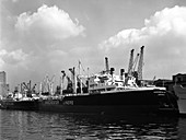 Manchester Renown in dock on the Manchester Ship Canal, 1964