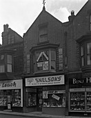 Snelsons electrical shop, Mexborough, South Yorkshire, 1963