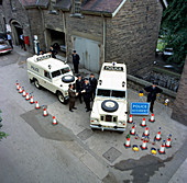 Police Land Rovers being delivered, 1969