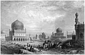 Tombs of the Kings of Golconda, Andhra Pradesh, India, 1844