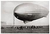 Graf Zeppelin moored at Loewental, Germany, 1933