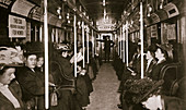 Hudson River subway train, New York, USA, c1901