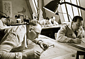 A drawing office scene, 1936