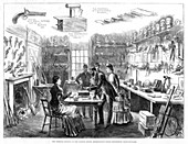 The Criminal Museum at the Convict Office, London, 1883
