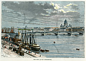 The Neva at St Petersburg, Russia, c1880