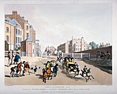 Entrance to Oxford Street at Tyburn Turnpike, London, 1798