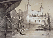 Tower of London, c1840