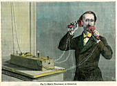 Bell's telephone in operation, late 19th century