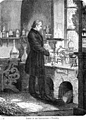 Liebig in His Laboratory-Chemistry, mid 19th century
