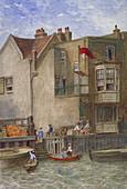 The Cock Inn, St Katherine's Way, Stepney, London, c1868