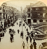 Queen Street, Hong Kong, China, 1896
