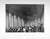 Five Pound Note Office, Bank of England, London, c1840