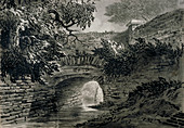 Serpentine's drainage system in Hyde Park, London, c1817