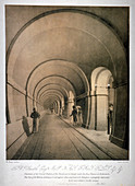 Proposed western archway of the Thames Tunnel, London, c1831