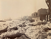Thames during the frost of February 1895