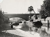 Limehouse Cut, Stepney, London, c1925