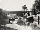 Limehouse Cut, Stepney, London, c1925