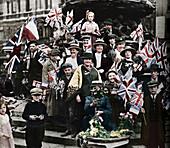 Victory celebrations, Piccadilly, London, 1918