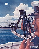 How A Ship's Captain Uses The Sextant, 1935