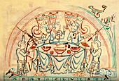 A banquet, 11th century