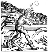 Ship carpenter, 15th century