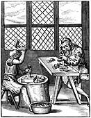 Thimble makers, 16th century