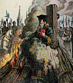 The Burning Of Cranmer', 1556