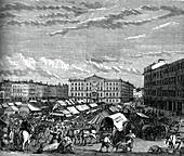 Nottingham market place, c1880