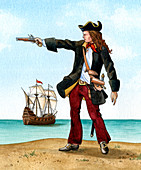 Anne Bonny, c1698, Irish Pirate