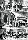 Various pottery processes, c1880