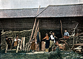 A house in Dalarna, Sweden, c1890