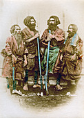 Group of Ainu people, Japan, 1882