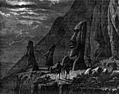 Moai, Easter Island, 19th century