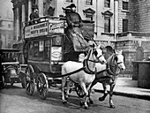 A horse-drawn bus, London, 1926-1927
