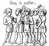Professional tradesmen, 14th century