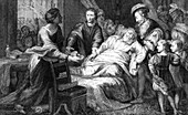 The death of Leonardo de Vinci, 1519